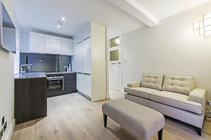 Стильная перепланировка квартиры 32 квадратных метра