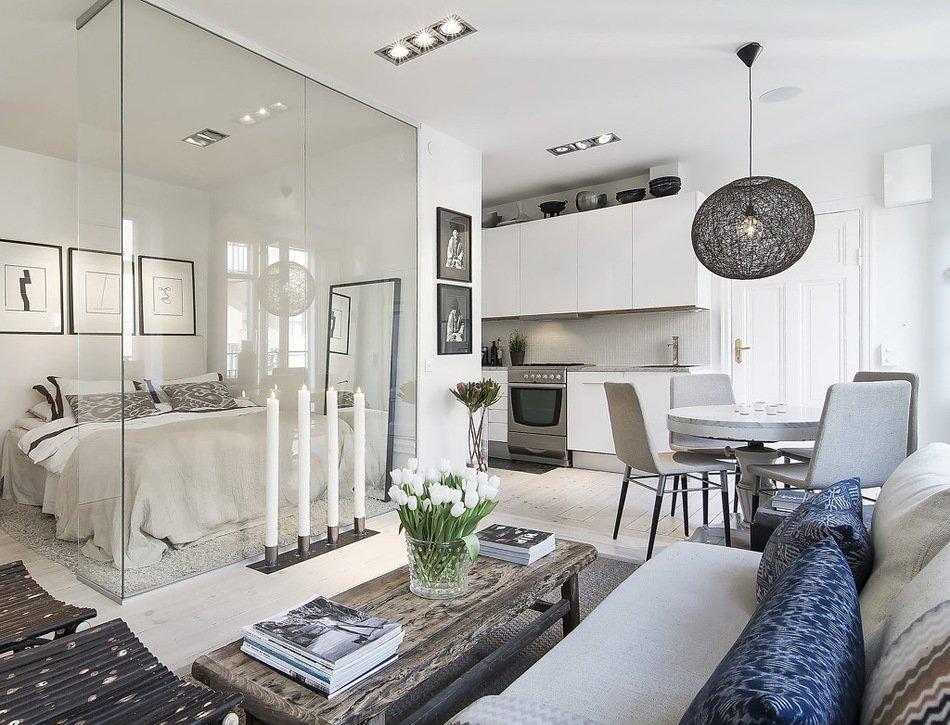 Стильная перепланировка квартиры в Швеции