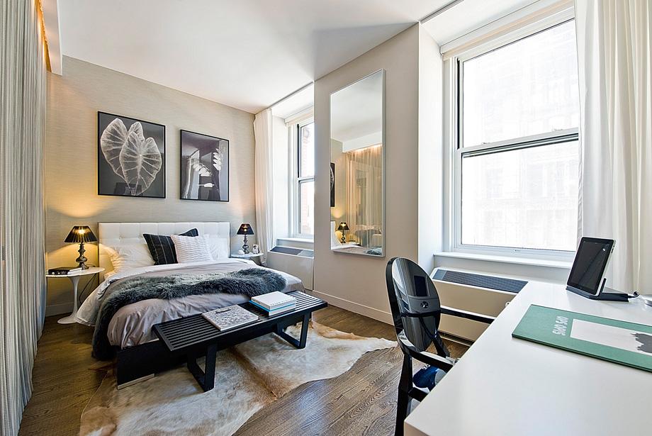 Зонирование пространства в Нью-Йоркской квартире