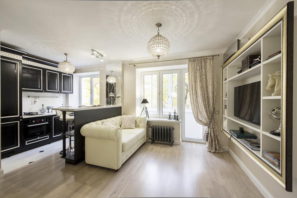 Шикарная квартира в Москве в стиле ар-деко