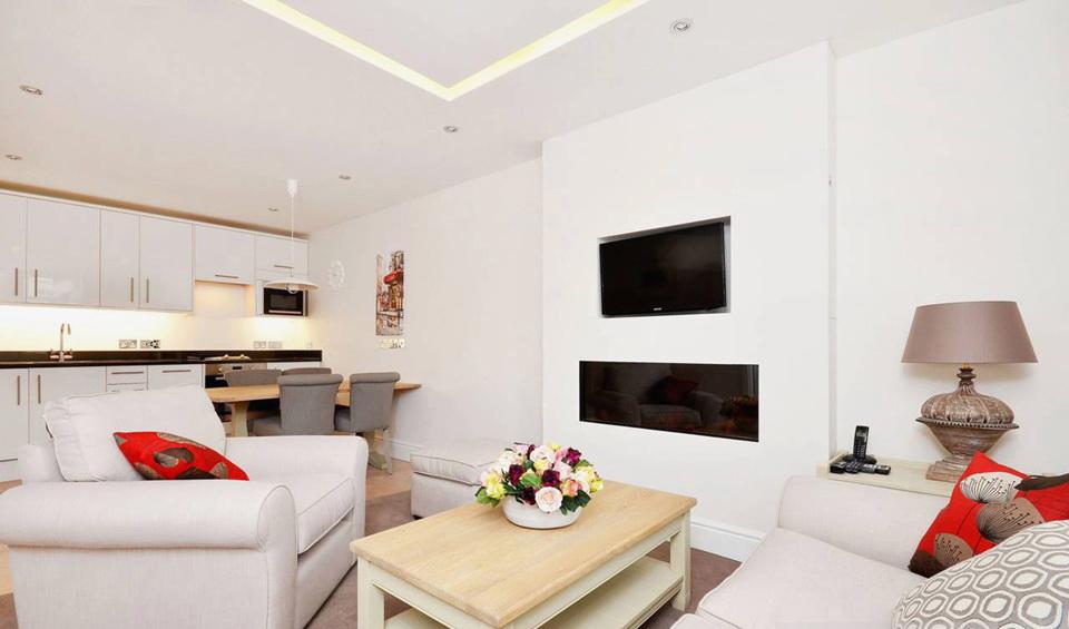 Стильная перепланировка квартиры 40 квадратных метров с кухней-гостиной