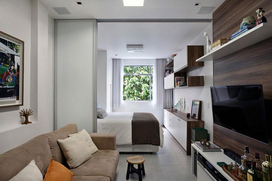 Уютный дизайн узкой квартиры 27 метров квадратных