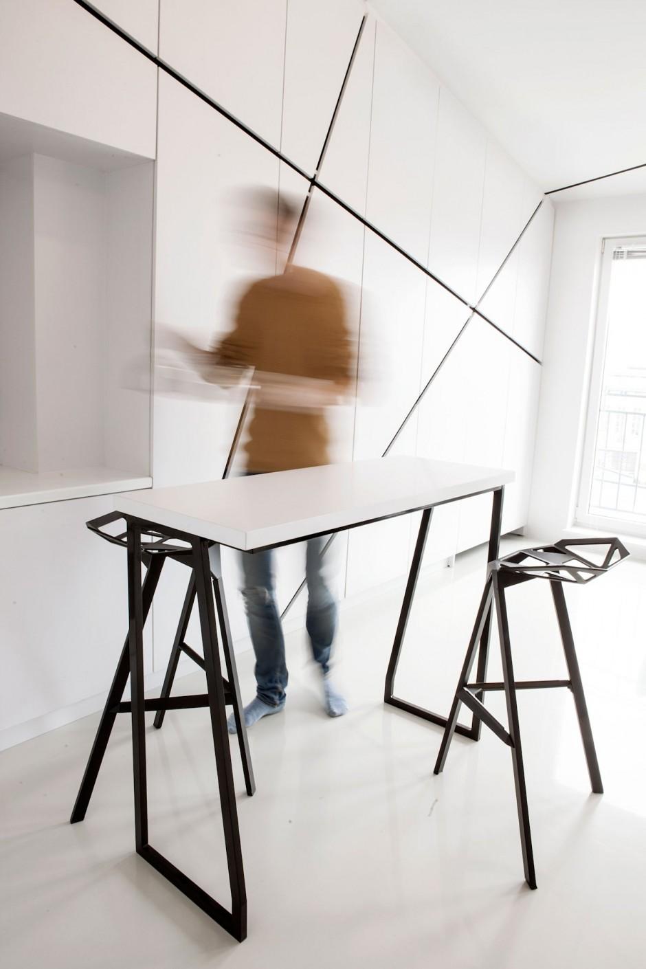 Дизайн студии зал и кухня