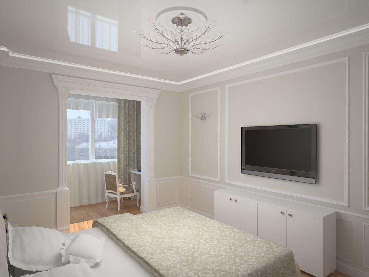 Спальня с примыкающей лоджией