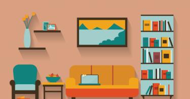 Схема интерьера гостиной
