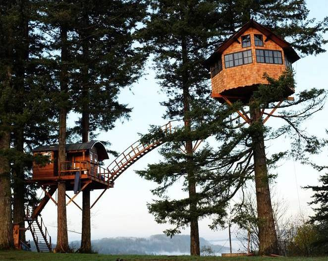 Домик на дереве своими руками двухуровневый