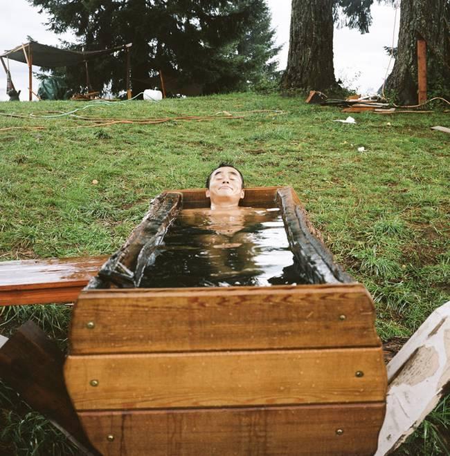 Домик на дереве своими руками: деревянная ванна