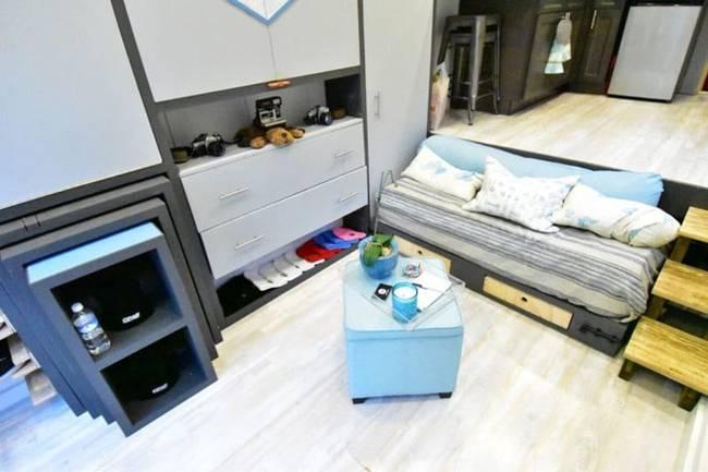 Дизайн интерьера маленького дома: фото. Компактная мебель