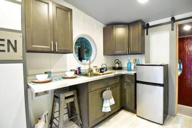 Дизайн интерьера маленького дома: фото. Небольшая кухня