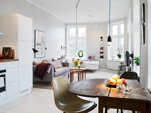 Открытая планировка в малогабаритной квартире
