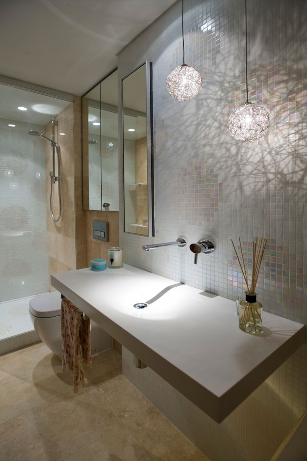 Интерьер стильной современной ванной
