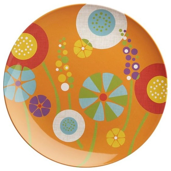 Яркая меланиновая тарелка