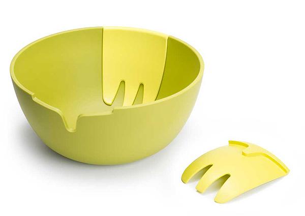 Салатная миска с лопатками для перемешивания