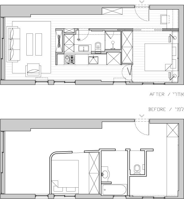 Планировка небольшой квартиры-студии