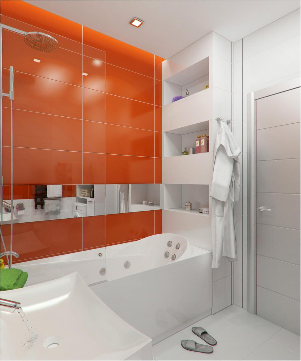 Ванная небольшой квартиры-студии в Киеве