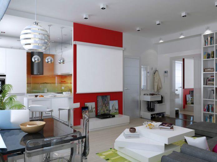Интерьер небольшой квартиры-студии в Киеве