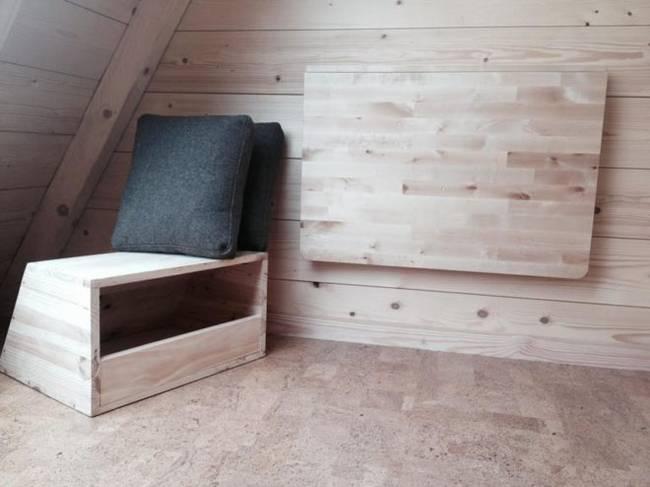 Проект микро дома: складная мебель