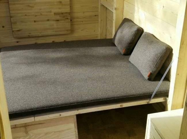 Проект микро дома: кровать