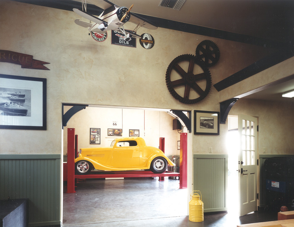 Интерьер стильного гаража