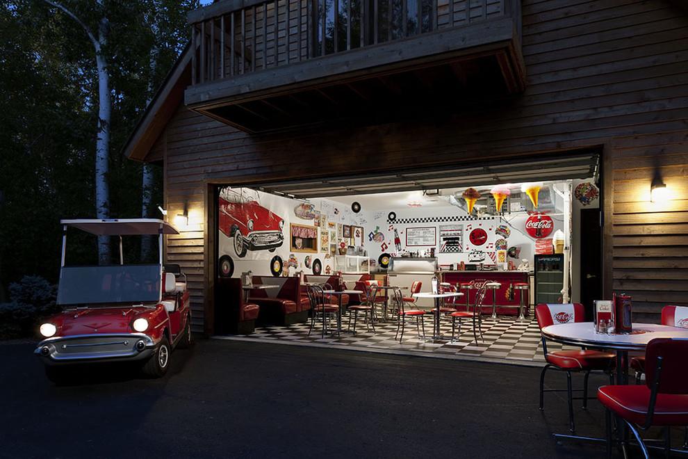 Кафе в гараже