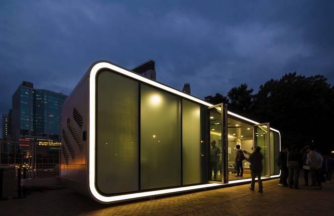 Фото сборного дома от дизайнеров
