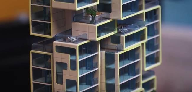 Сборный дом - фото макета квартир