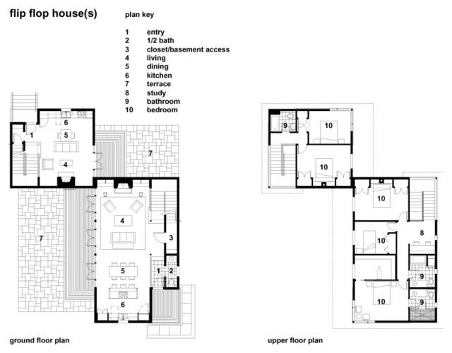 План дома с пристройкой