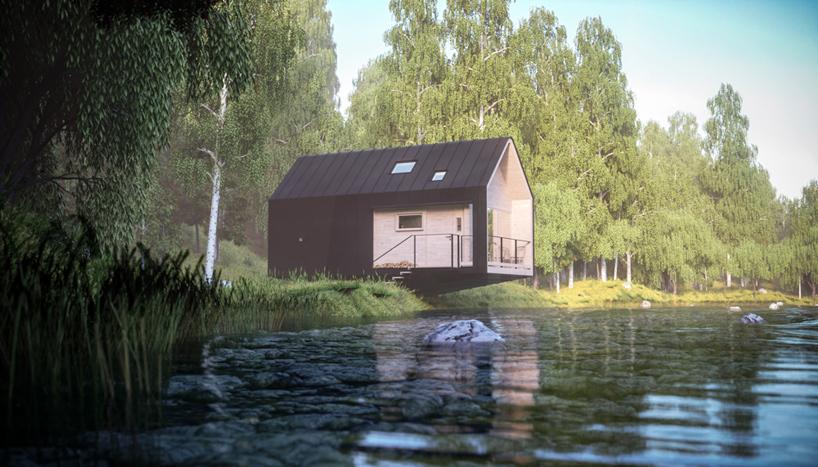 Маленький домик в лесу Великобритании