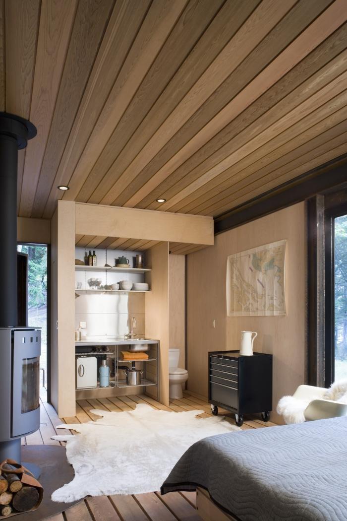 Кухня маленького домика вблизи Сиэтла