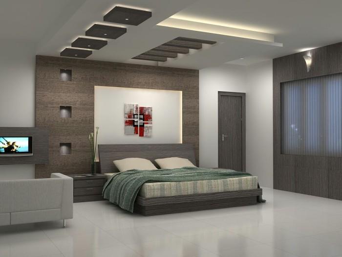 Потолочная и настенная подсветка в спальне