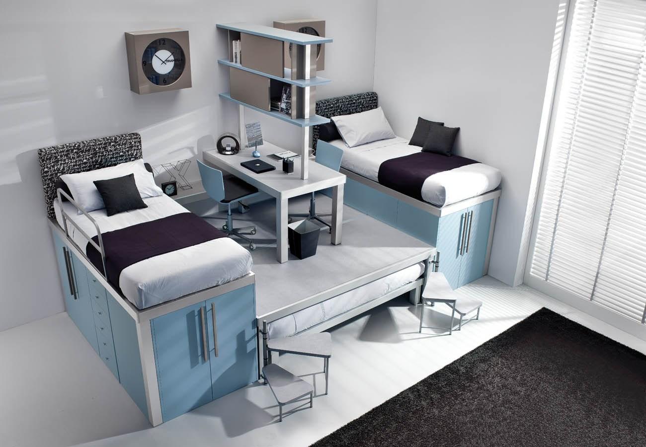 Двухуровневые кровати в детской