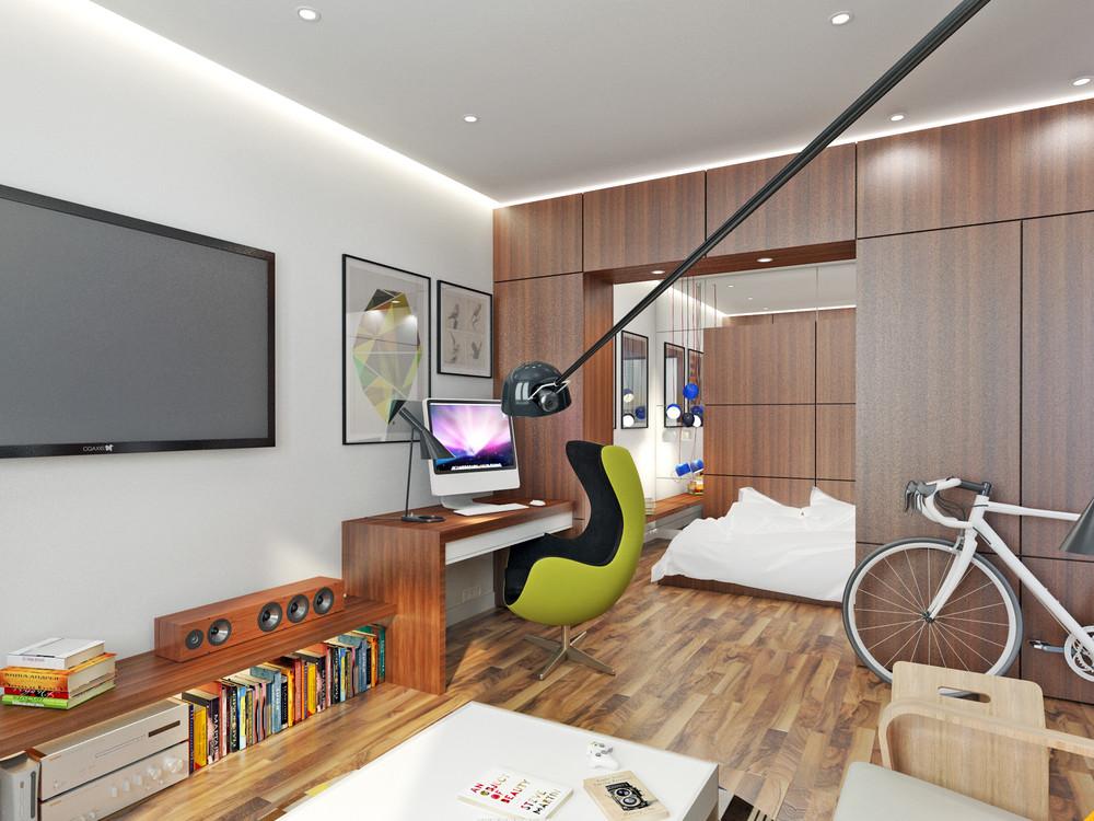 Гостиная в доме с открытой планировкой