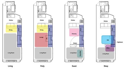 Проект маленькой квартиры с трансформируемой мебелью
