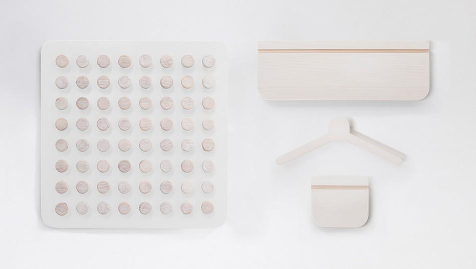 Квадратная настенная панель Manolo в белом цвете