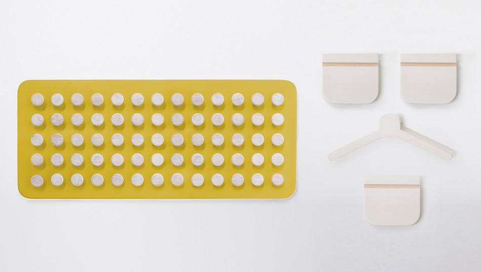 Прямоугольная настенная панель Manolo в жёлтом цвете
