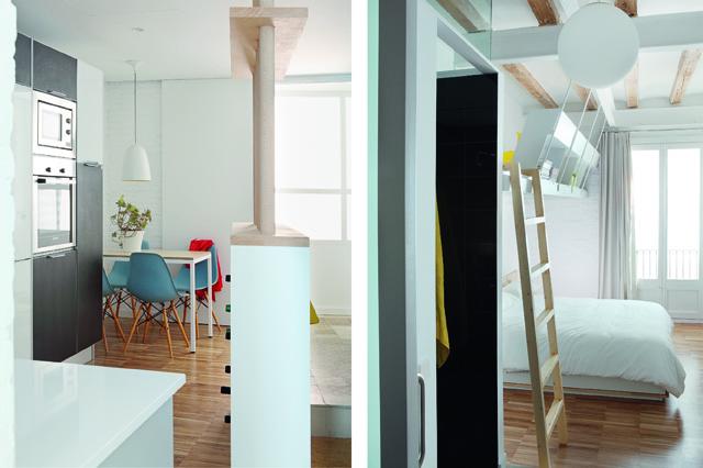 Проект мини квартиры: кухня и спальня