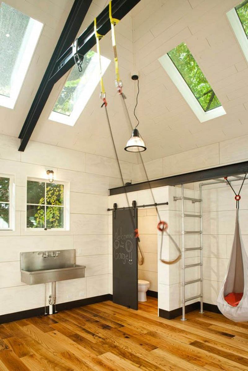 Ванная комната в гараже