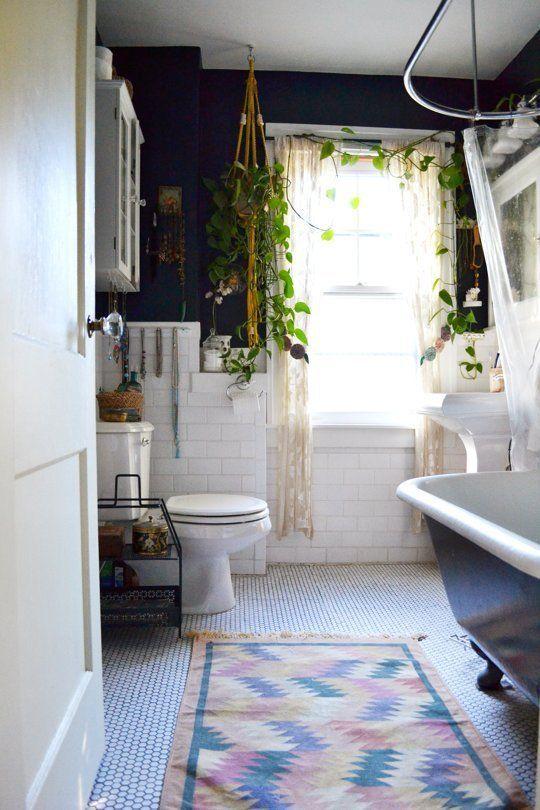 Оформление ванной с помощью растений
