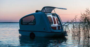 Маленькая лодка на колёсах - кемпер Sealander