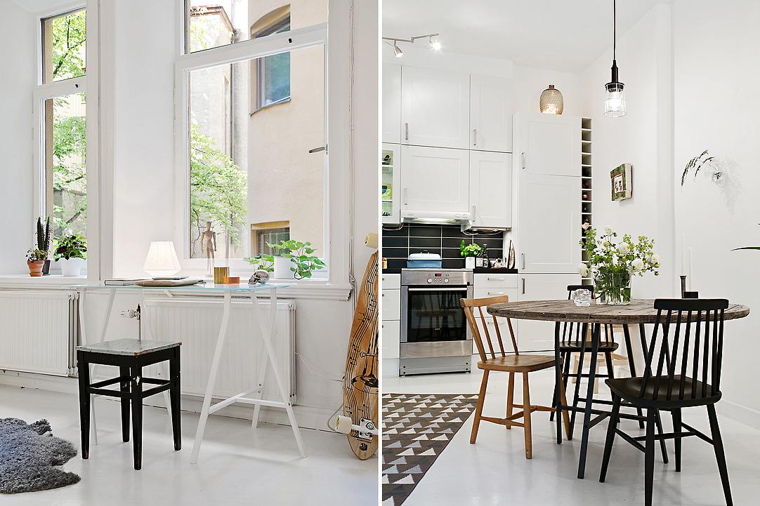 Кухня со столовой областью