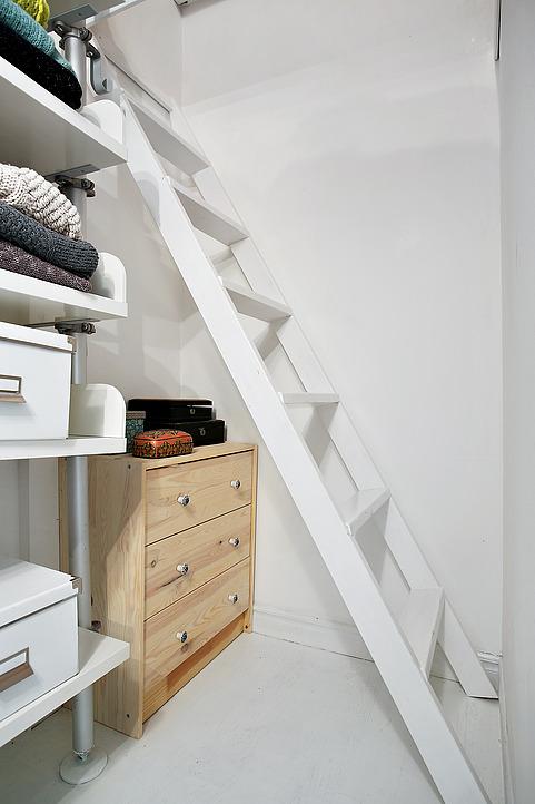 Лестница в гардеробной