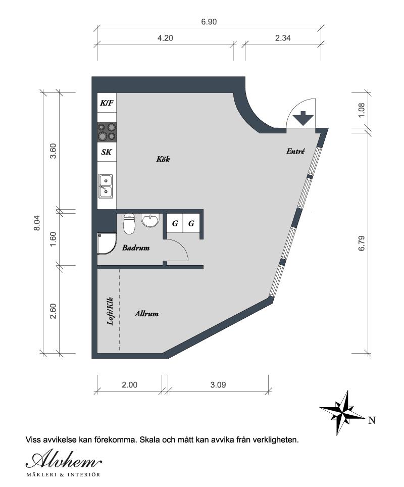 Детальная планировка квартиры
