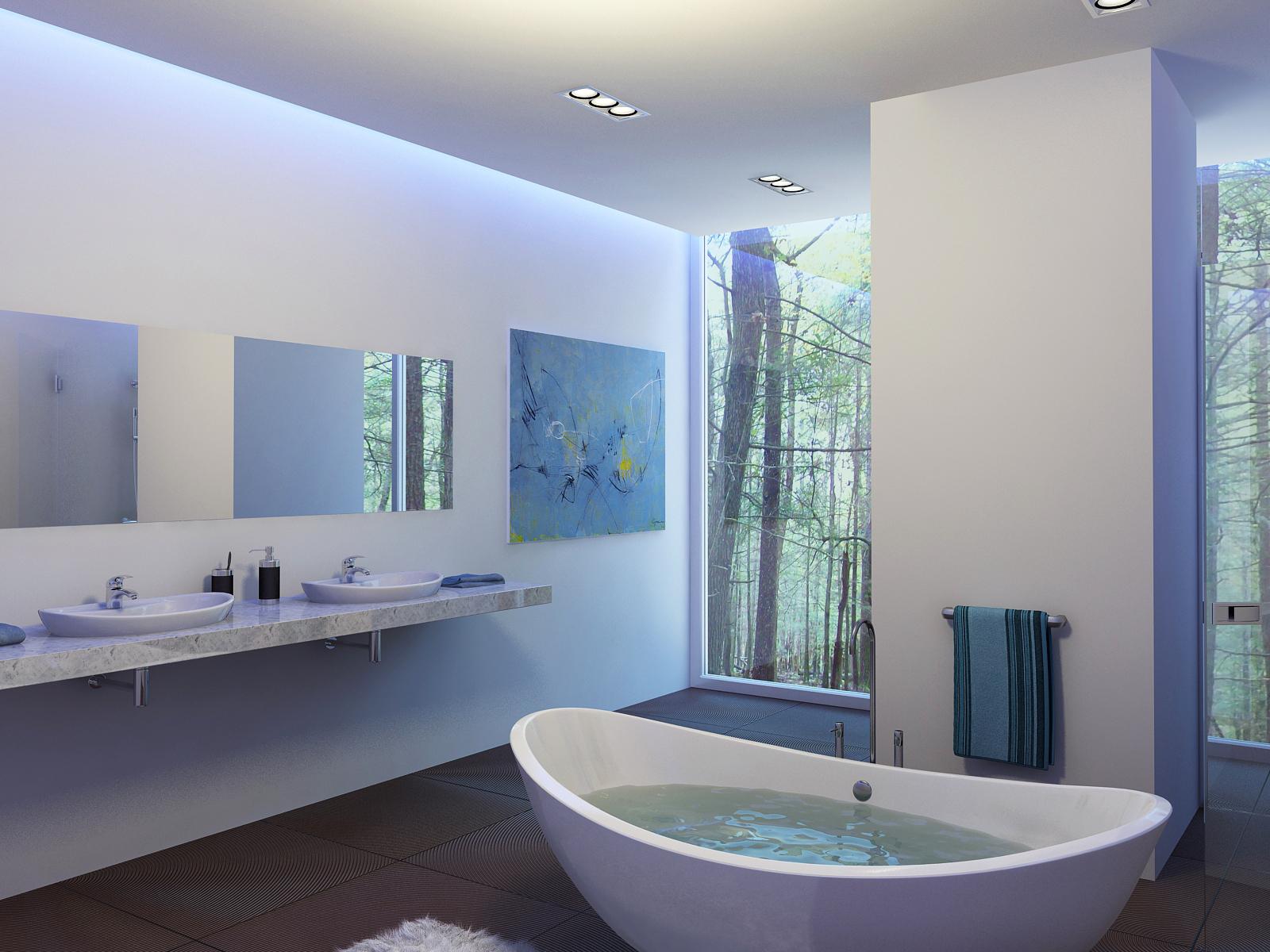 Роскошный интерьер в ванной