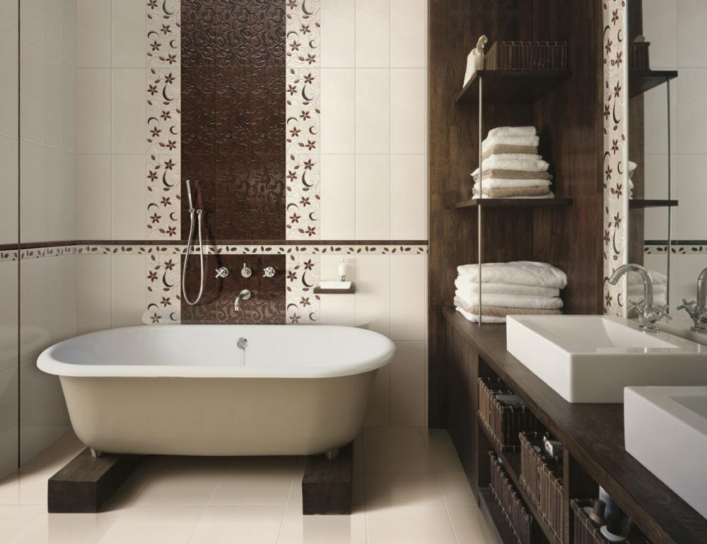 Шикарный интерьер небольшой ванной комнаты