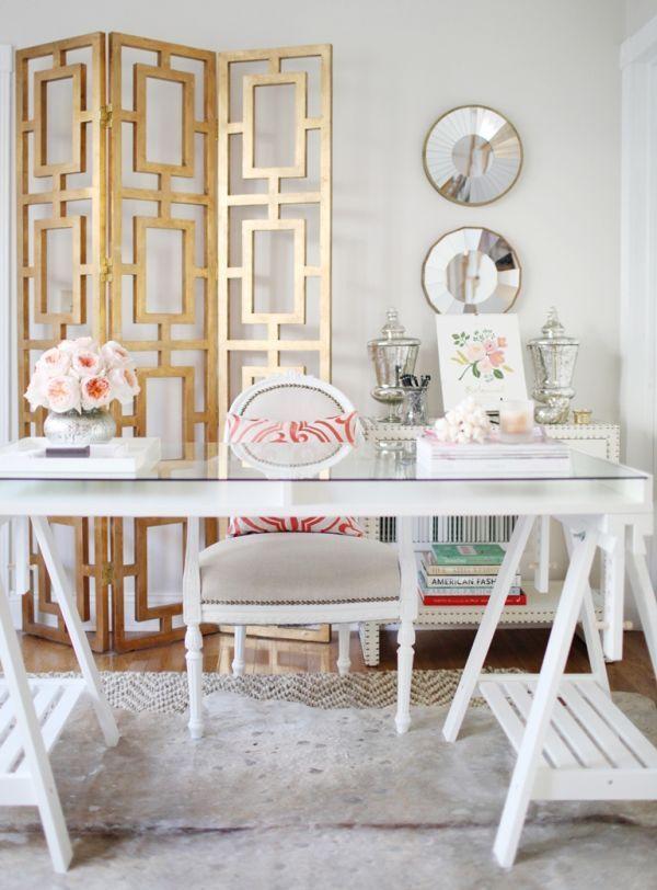 Деревянная ширма в дизайне интерьера кабинета