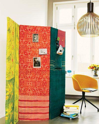 Текстильная ширма в дизайне интерьера
