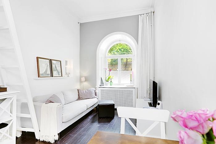 Интерьер квартиры 17 квадратных метров в скандинавском минимализме