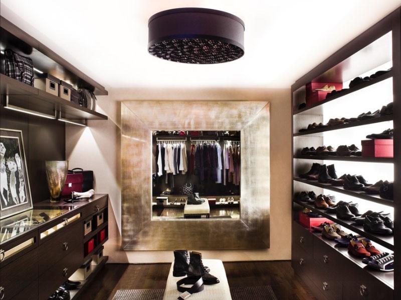 Креативное освещение в системе хранения одежды