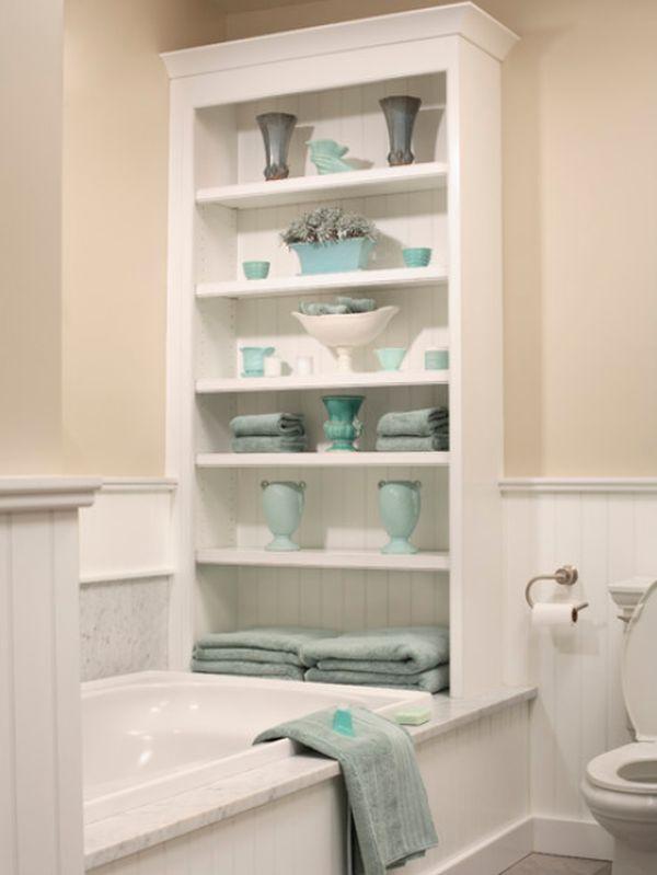 Стеллаж для хранения полотенец в ванной