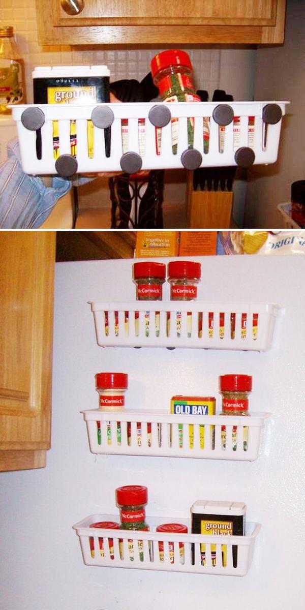 Пластиковые корзинки, оснащённые магнитами